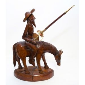 Other - Vintage Hand Carved Wood of Don Quixote On a Horse